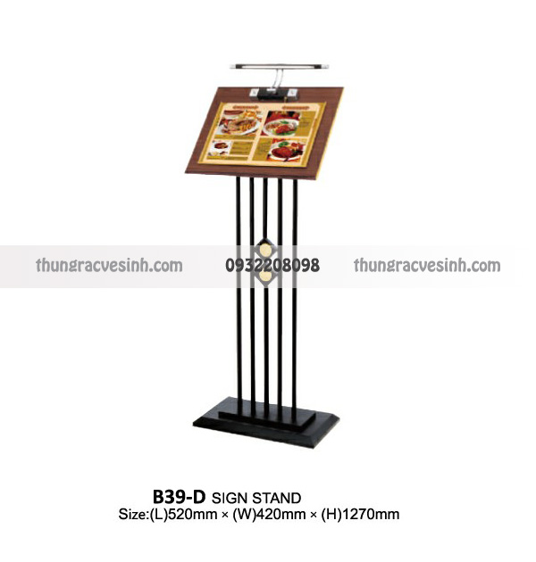 Giá để menu có đèn B39-D