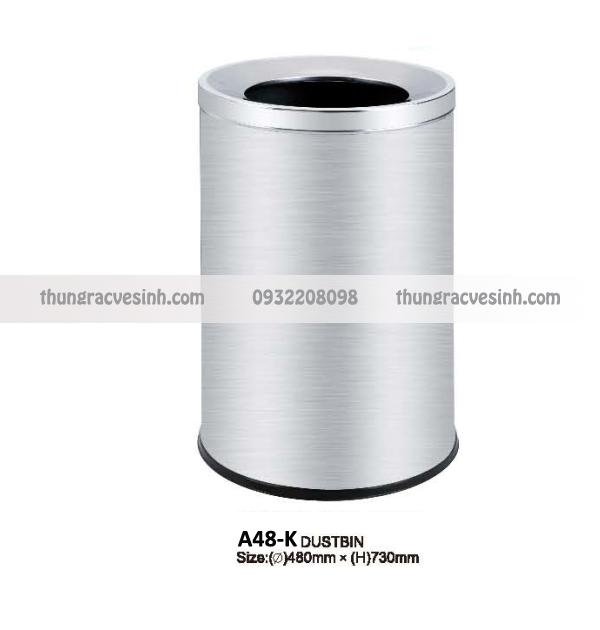 Thùng rác tròn inox A48-K