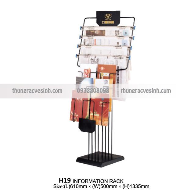 Giá để sách báo tạp chí H19