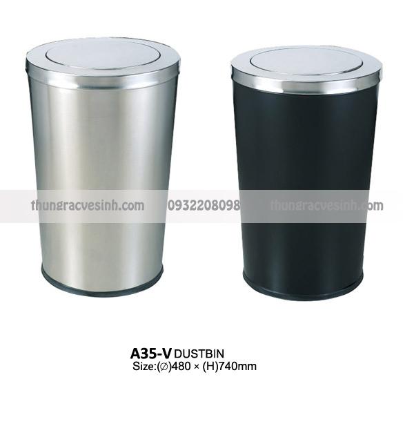 Thùng rác nắp lật A35-V