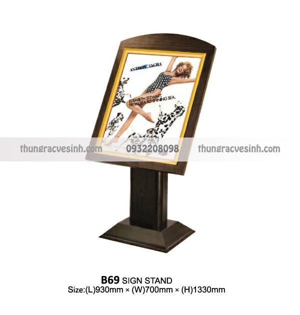 Giá để menu nhà hàng B69
