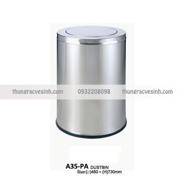 Thùng rác nắp lật A35-PA