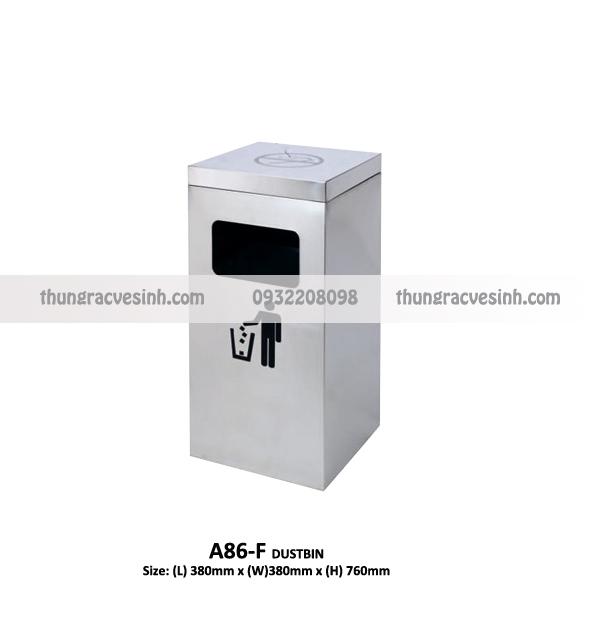 Thùng rác sảnh inox A86-F