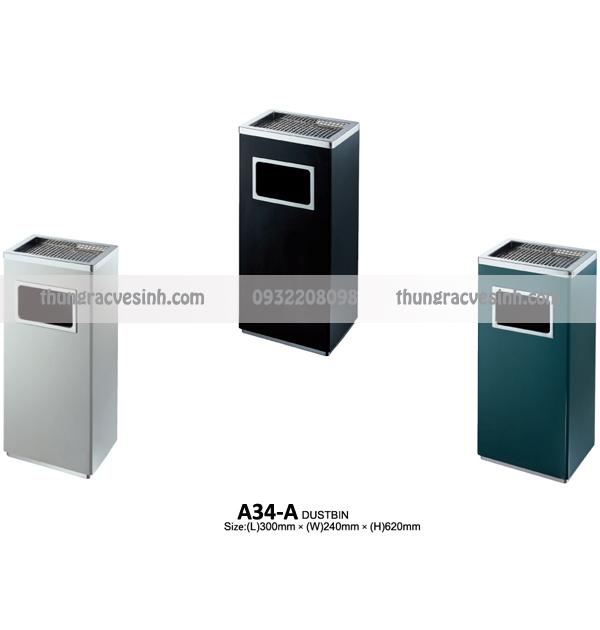 Thùng rác gạt tàn A34-A