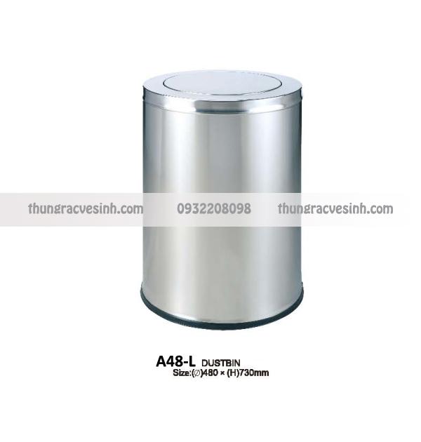 Thùng rác nắp lật inox A48-L
