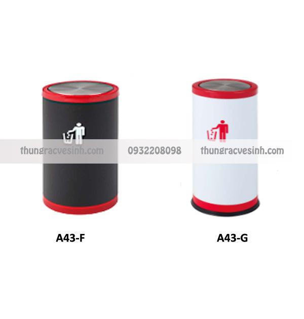 Thùng rác nắp lật A43-F, A43-G