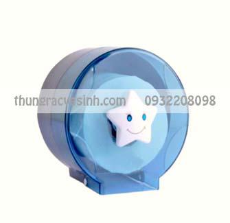 Hộp đựng giấy vệ sinh mini màu xanh