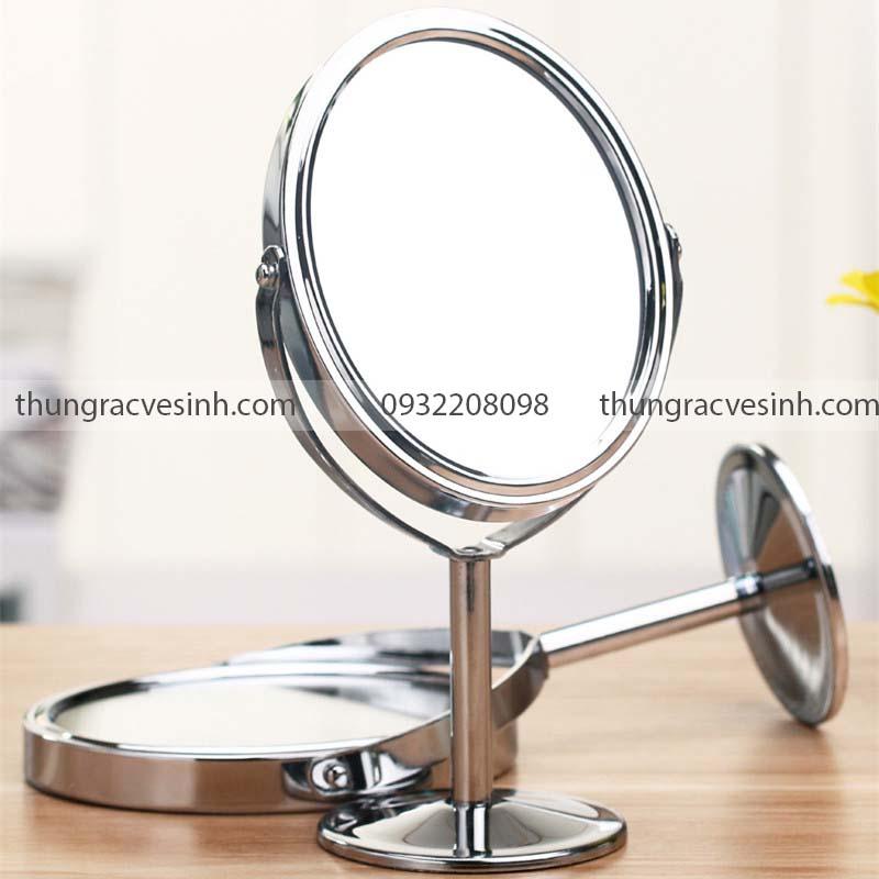 Gương trang điểm hai mặt để bàn phấn