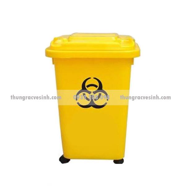 Thùng rác y tế 60 lít có bánh xe