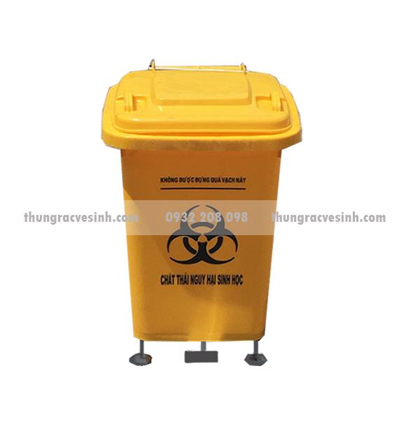 Thùng rác y tế 60 lít có chân đạp